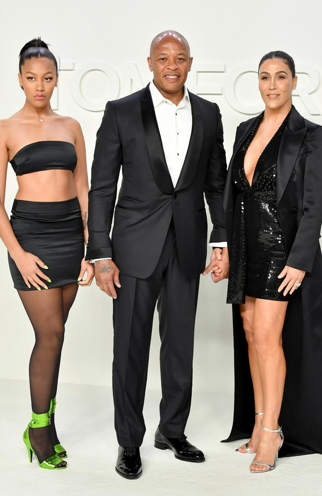 Dr Dre and Nicole Young with their daughter, Truly Young. Picture: Amy Sussman/Getty Images