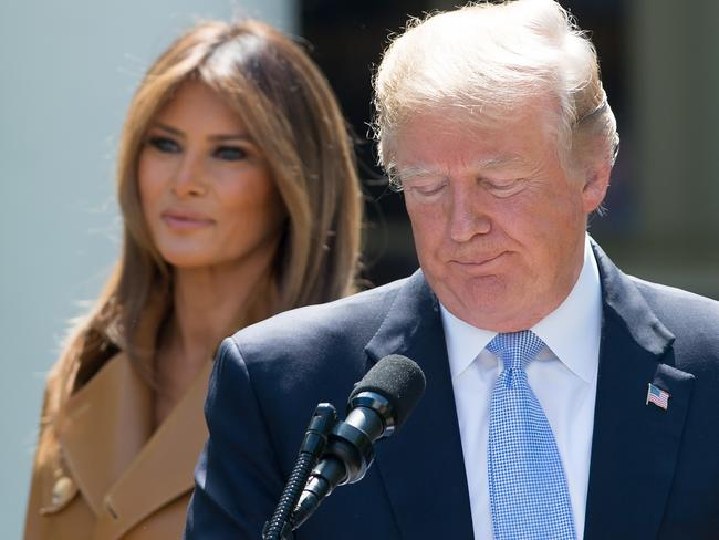 US President Donald Trump's popularity is well below that of his wife's. Picture:  AFP/Saul Loeb