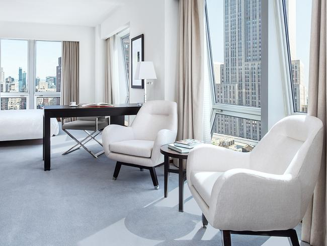 The Langham Place features great views of the Empire State Building and the rest of New York City from its corner rooms.
