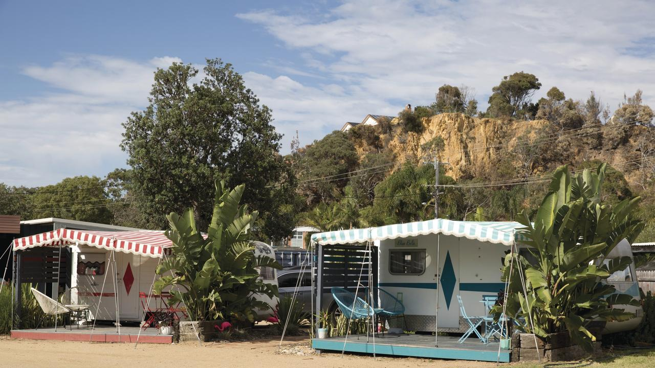 Supplied Travel WHAT'S YOUR BUDGET: TATHRA. Tathra Beachside Retro Caravan. For story by Celeste Mitchell. Pictur