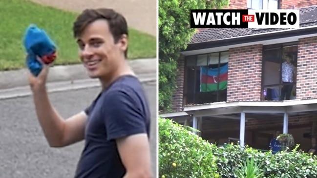 Comedian Jordan Shanks sneaks flag into Craig Kelly property