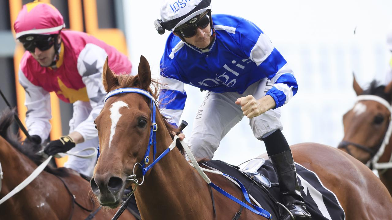 Jason Collett celebrating Gytrash's win in last year's Yes Yes Yes Stakes. Picture: Getty Images