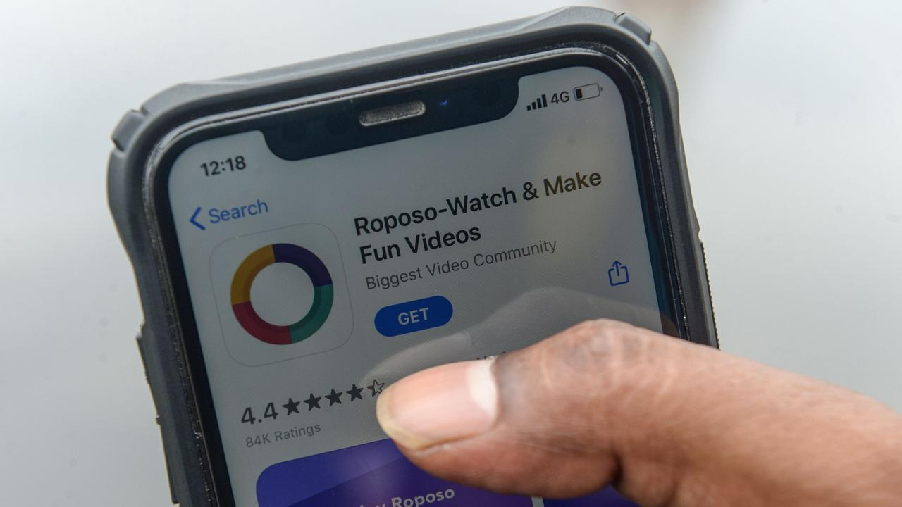 Local TikTok alternatives added millions of new users following the ban. Picture: Arun Sankar / AFP