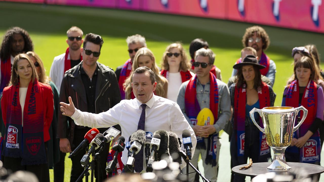 WA is gearing up to host the AFL grand final at Optus Stadium. Picture: Will Russell/Getty Images