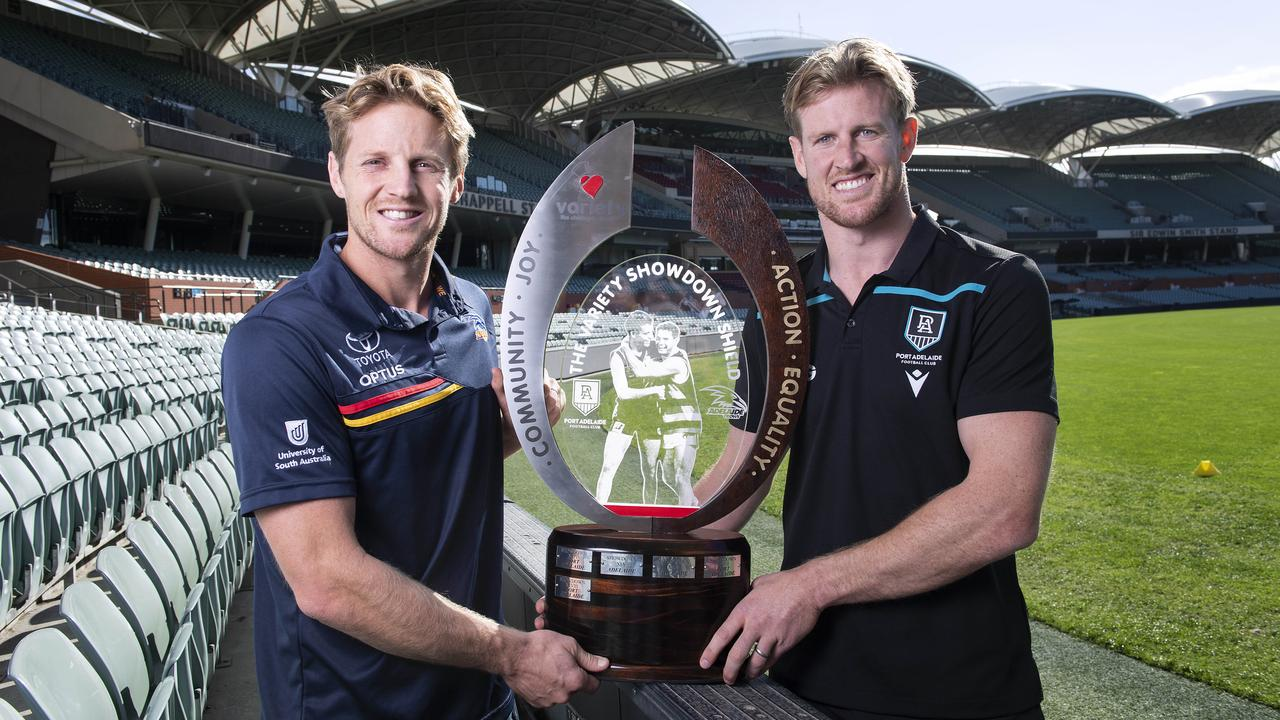 It's Shodown 50 between Port Adelaide and the Adelaide Crows this week. Picture Mark Brake