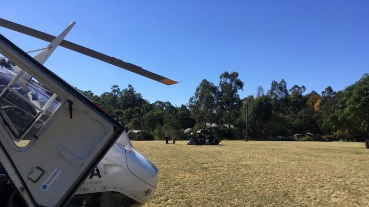 CareFlight's Rapid Response Helicopter airlifted the stunned teenager to The Children's Hospital at Westmead. Source - CareFlight