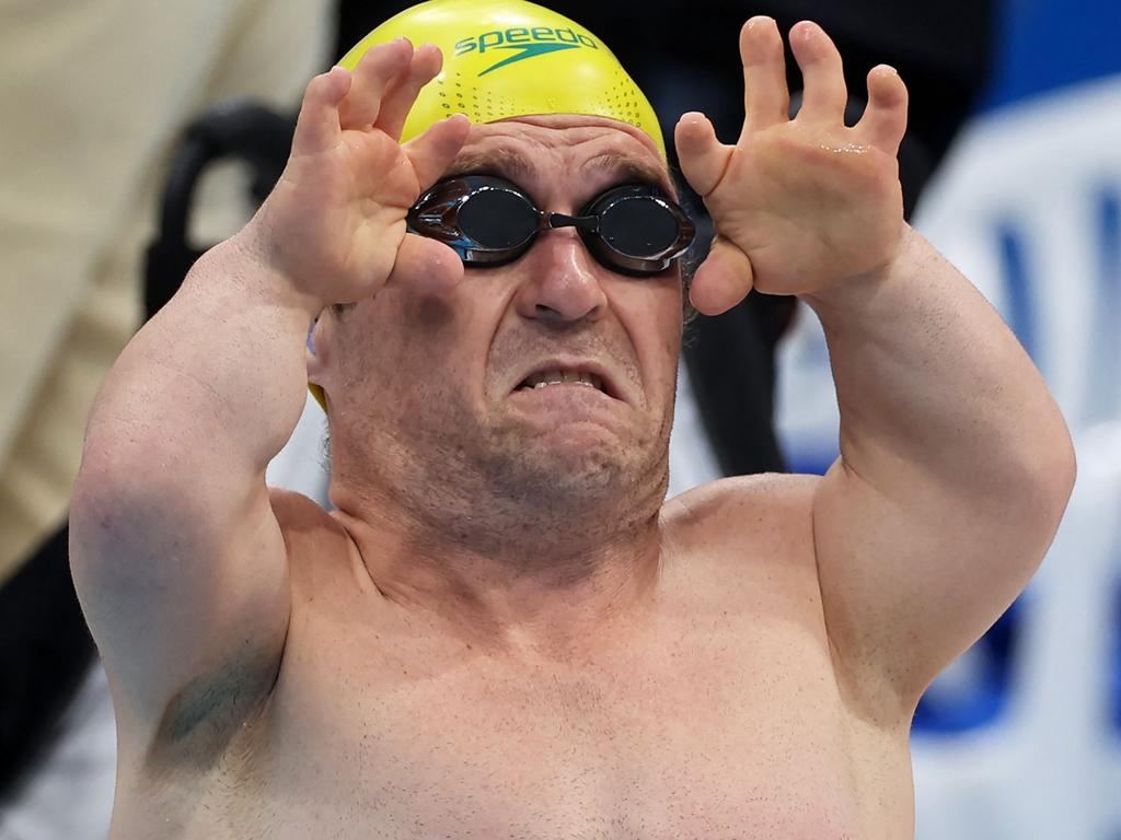 Scooter has claimed two medals in the pool. Picture: AFP