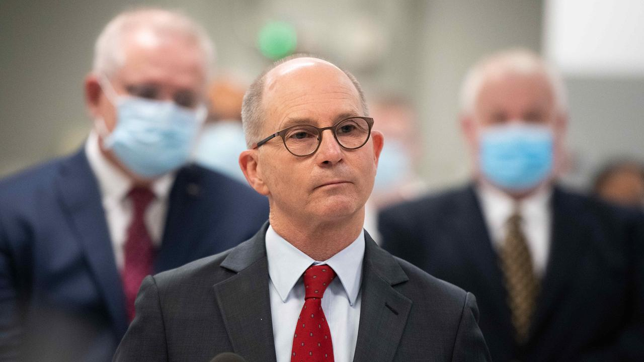 Chief medical officer Paul Kelly has defended the AstraZeneca vaccine. Picture: NCA NewsWire/Bianca De Marchi