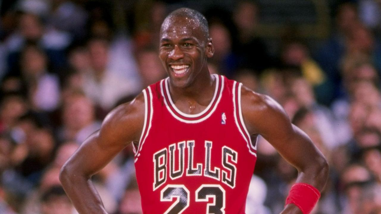 MJ seems pretty happy with where he is.
