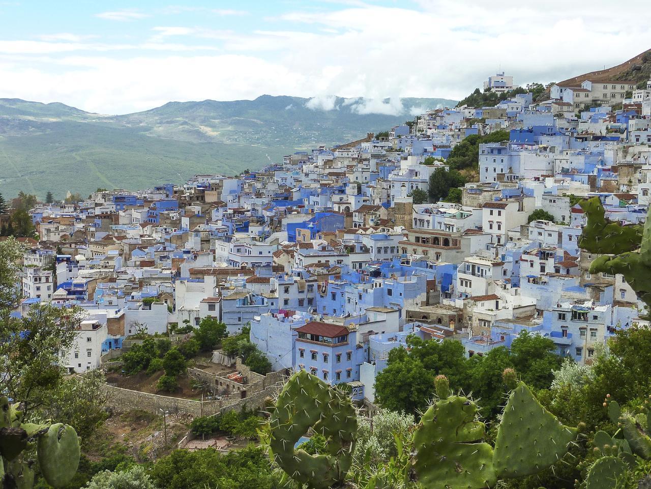ESCAPE: CHEFCHAOUEN, MOROCCO .. Paul Ewart story .. The blue painted hill town of Chefchaouen, Morocco. Picture: iStock