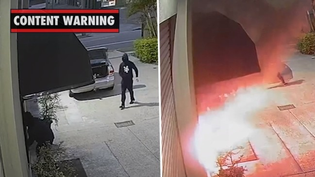 Footage shows alleged firebombing of Gold Coast brothel