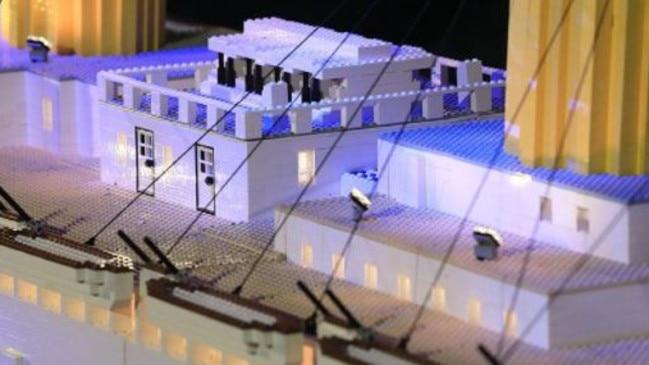 Brynjar Karl Bigisson used 56,000 Lego bricks to create his Titanic replica. Picture: Titanic Pigeon Forge