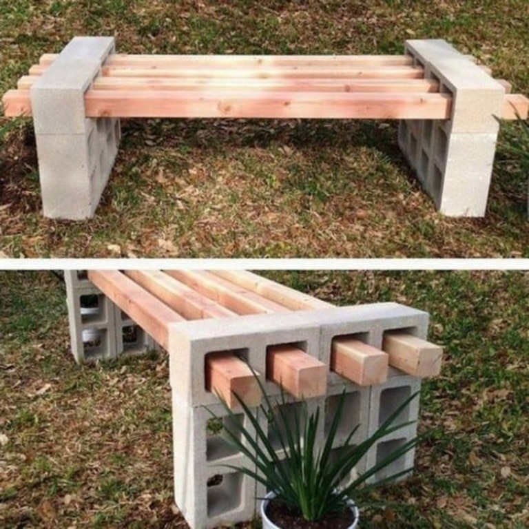DIY Besser bench blocks.