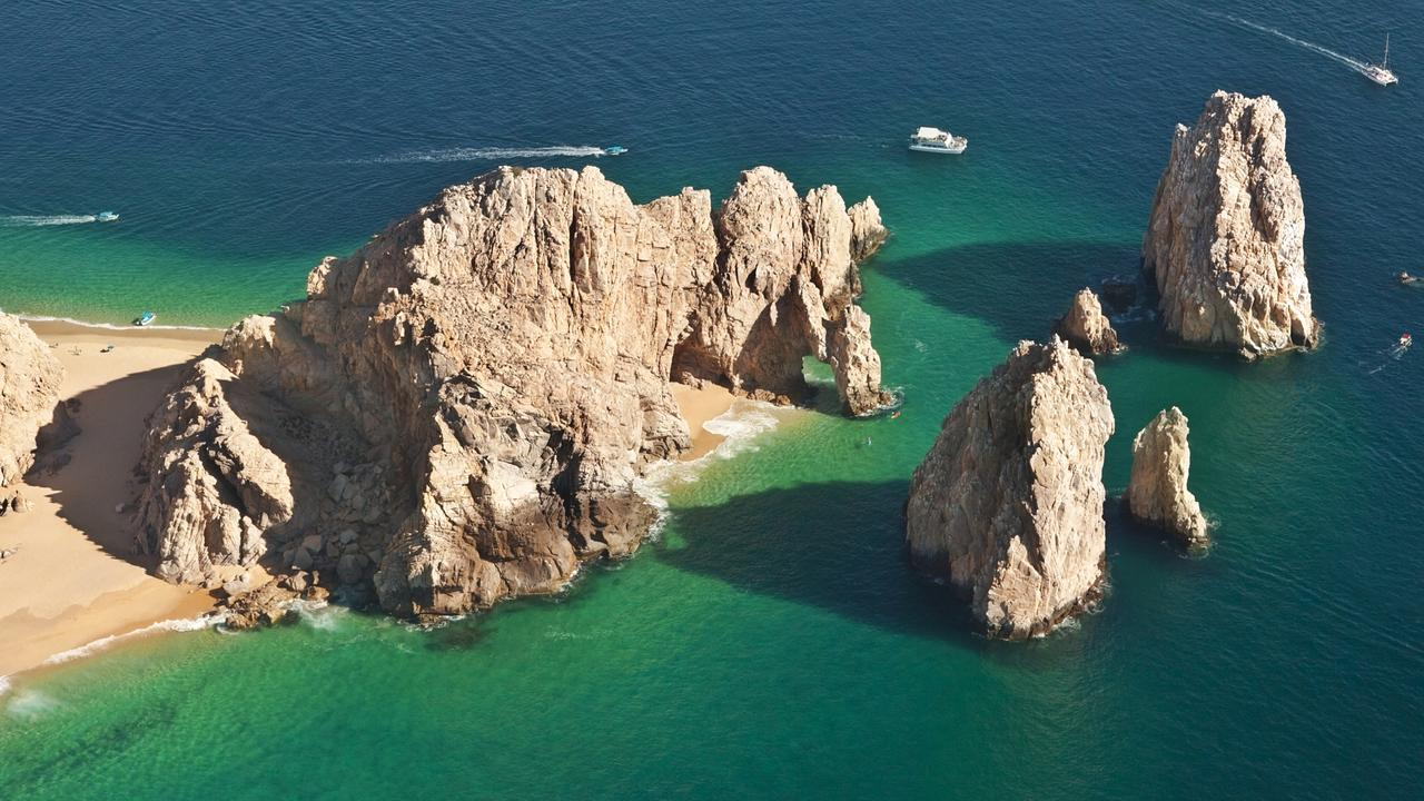 El Arco and Lover's Beach Aerial View
