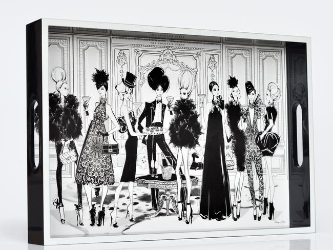 Functional and decorative ... impress with your own Megan Hess fashion illustration.