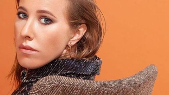 Ksenia Sobchak has her sights on sweeping reform in Russia. Picture: Instagram