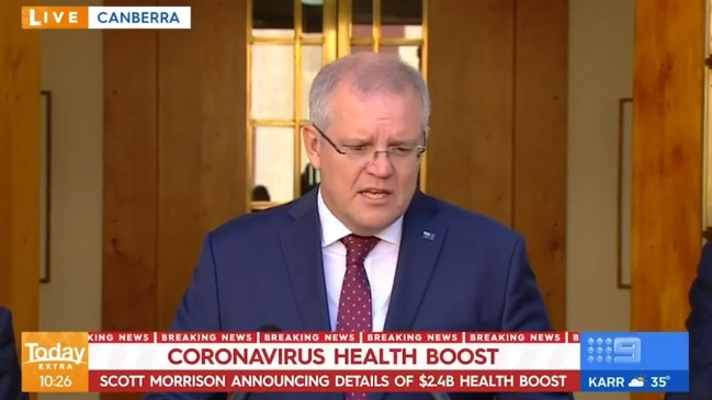 Scott Morrison announces $2.4 billion health package to tackle coronavirus (The Today Show)