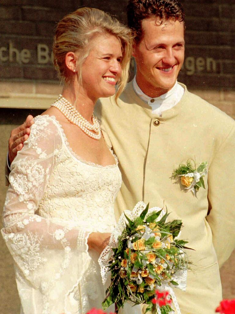 The couple on their wedding day in 1995.