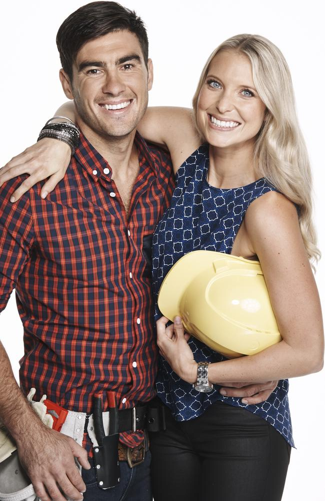 Shocked by the bad news ... The Block Glasshouse contestants Karstan and Maxine.