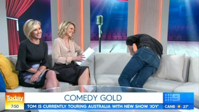 Tom Gleeson jokes about Karl Stefanovic on Today (Channel 9)