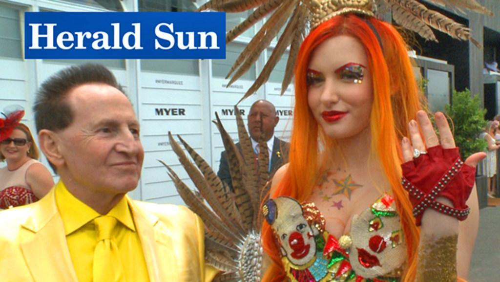 Watch as Edelsten proposes to Grecko at Melbourne Cup