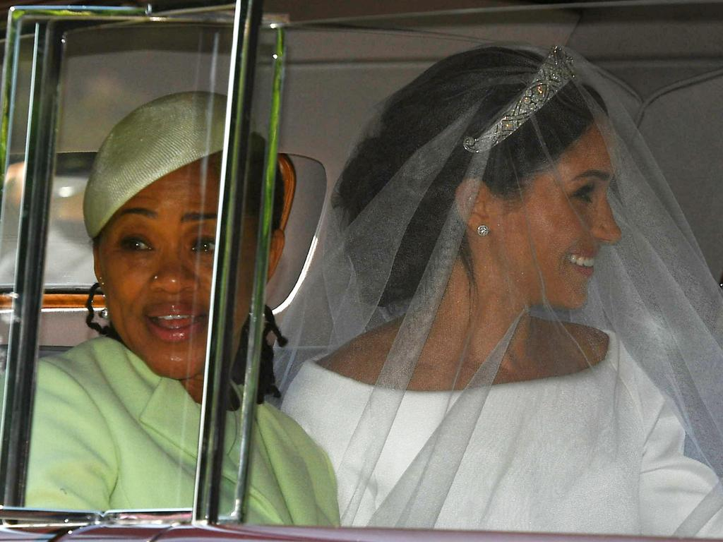 All class! Doria Ragland was by her daughter's side on her wedding day. Picture: Getty