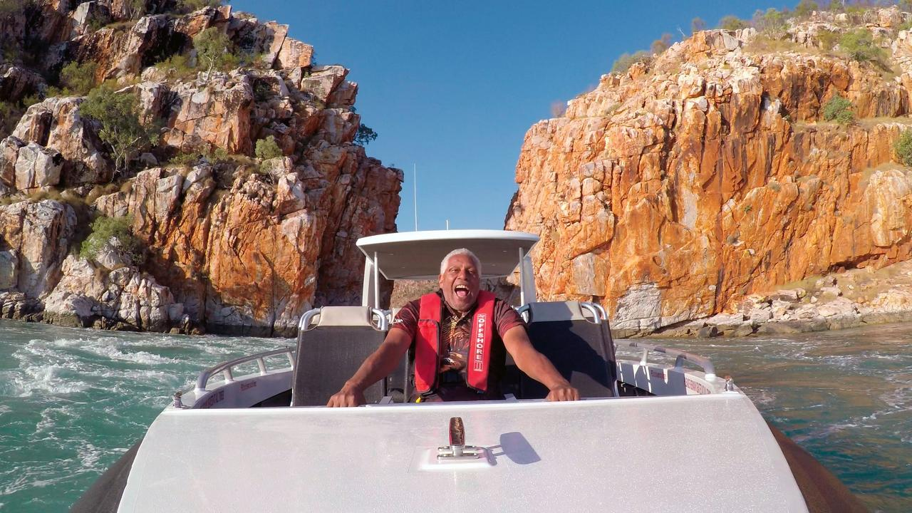 Ernie Dingo feels the rush in the Kimberley.
