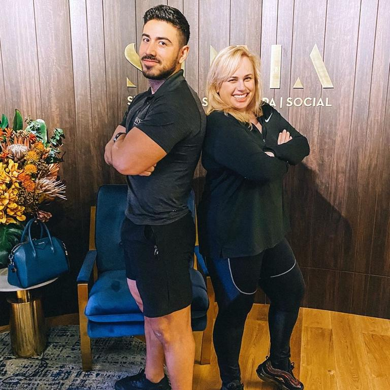 The actress trains with celebrity trainer Jono Castanoacero.