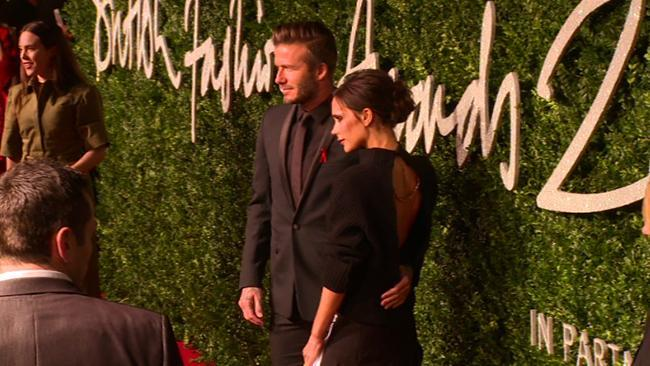 Victoria Beckham wears baggy jumper and $3000 skirt combo to British Fashion Awards