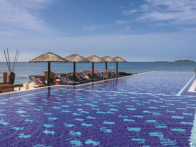 MALDIVES, 8-DAY PACKAGE, $3879 Escape to the Maldives and save 21 per cent when you pay from $3879 a person, twin share to stay at Centara Grand Island Resort and Spa for seven nights. Stay in a Beach Suite and also receive champagne breakfast, lunch and dinner daily with alcoholic and non-alcoholic drinks, minibar replenished daily, spa credit of US$200 per adult, your choice of excursion, return domestic flights with speedboat transfers and more. Travel until October 31, 2019 and must be booked by June 30, 2019. Ph 13 14 15, helloworld.com.au/agents