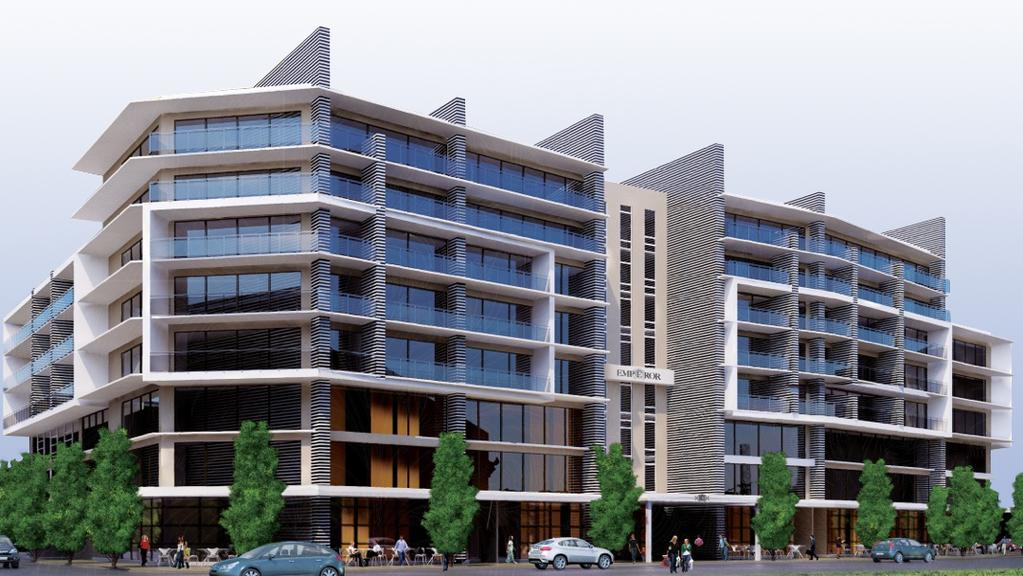 An Artist S Impression Of The Emperor Living Building Proposed For Mawson Lakes