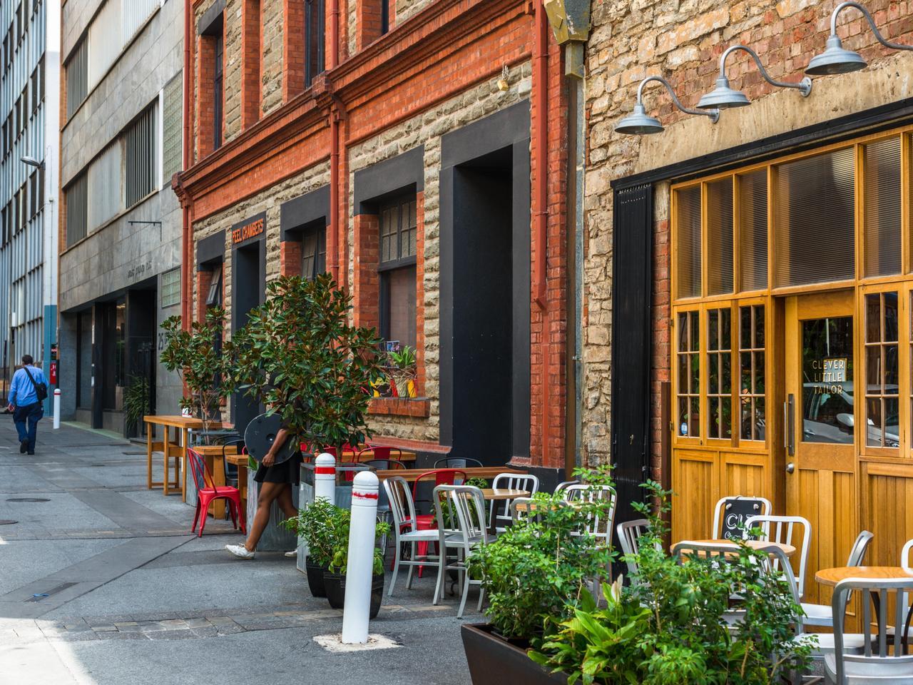 Bars on Peel street, Adelaide, South Australia. Australia.