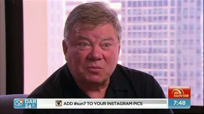 William Shatner tries his smooth moves on Sunrise Reporter