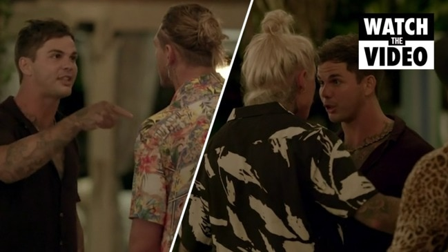 Security forced to step in as fight breaks out among the boys (Bachelor In Paradise)