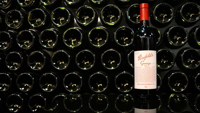 FULL TILT: A rare complete set of Penfolds Grange is expected to sell at auction in Adelaide for more than $250,000. Photographer: Carla Gottgens/Bloomberg