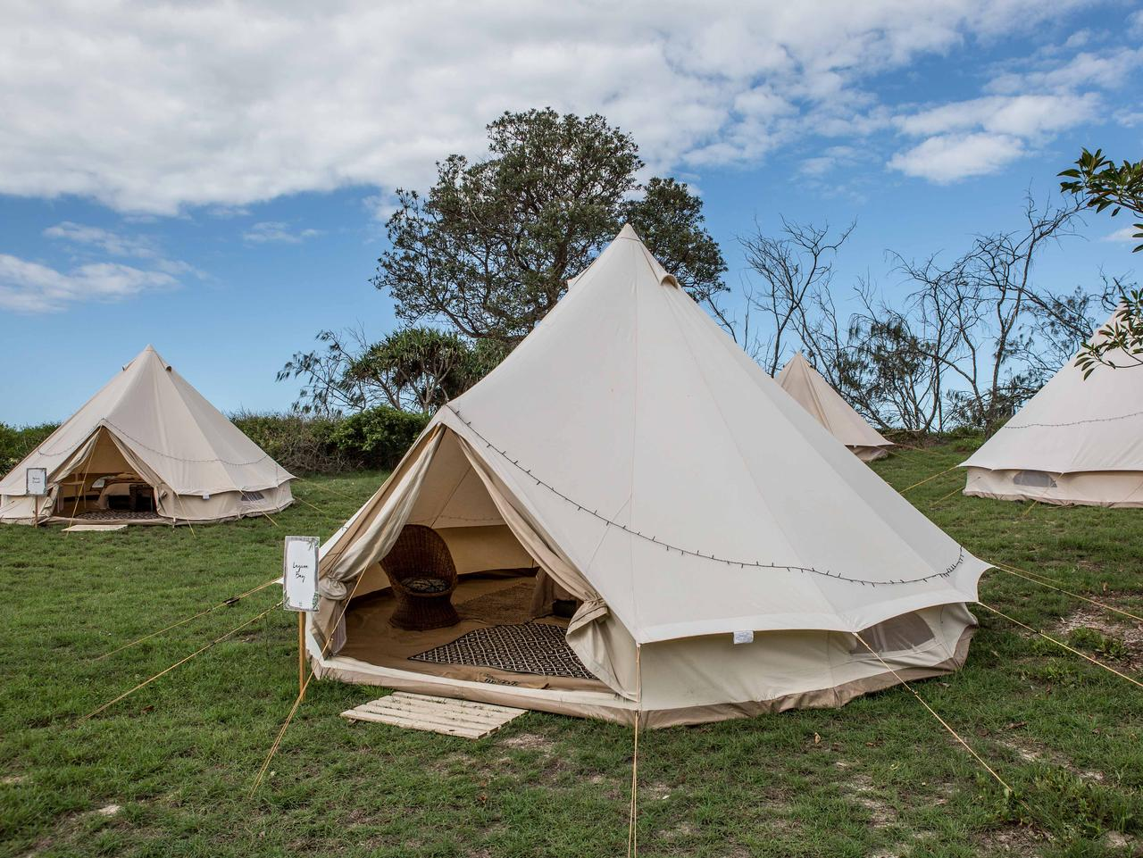 Glamping in Noosa with Mazda. Picture: Supplied