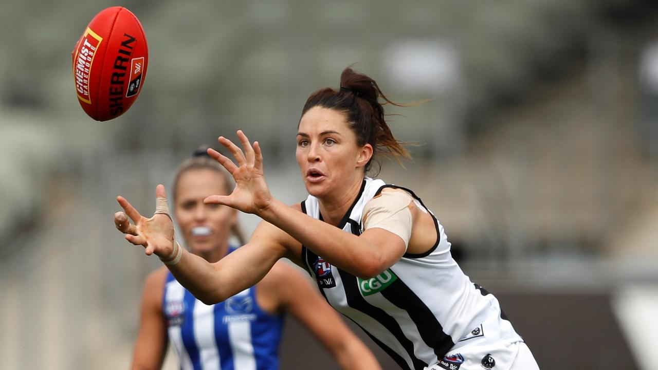 Sharni Norder has announced her retirement. Photo: Dylan Burns/AFL Photos via Getty Images.
