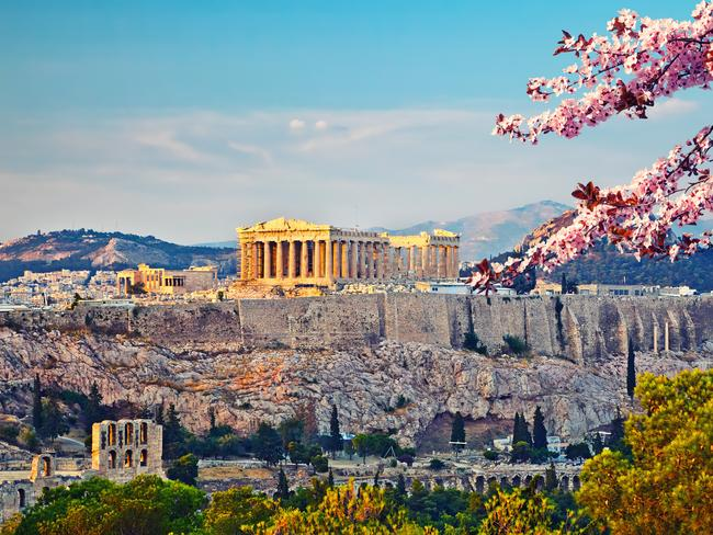 9. ATHENS, GREECE Home of the Parthenon, Acropolis, Plaka and more, Athens is one of the few European countries that Australians like to take their time in, rather than simply settling with a guided tour. In the last year travel to Athens grew by 12 per cent.