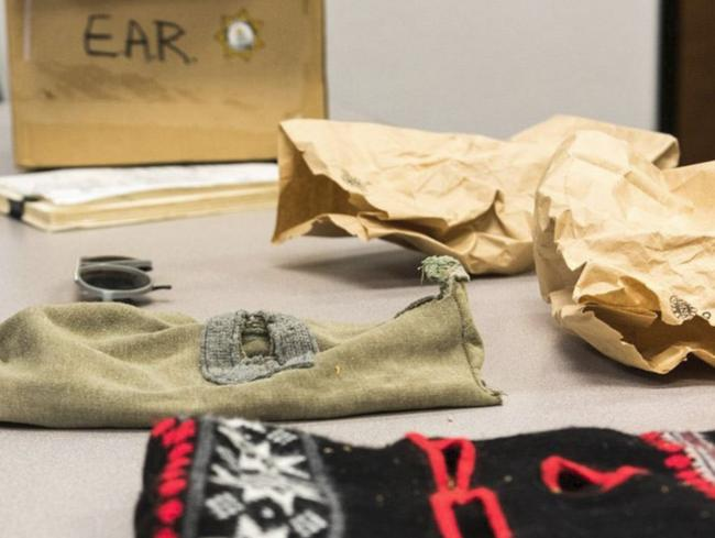 Balaclava and ski mask used by the Golden State Killer during an attack.
