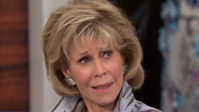 Jane Fonda brutally shut down NBC host Megyn Kelly over plastic surgery questions.