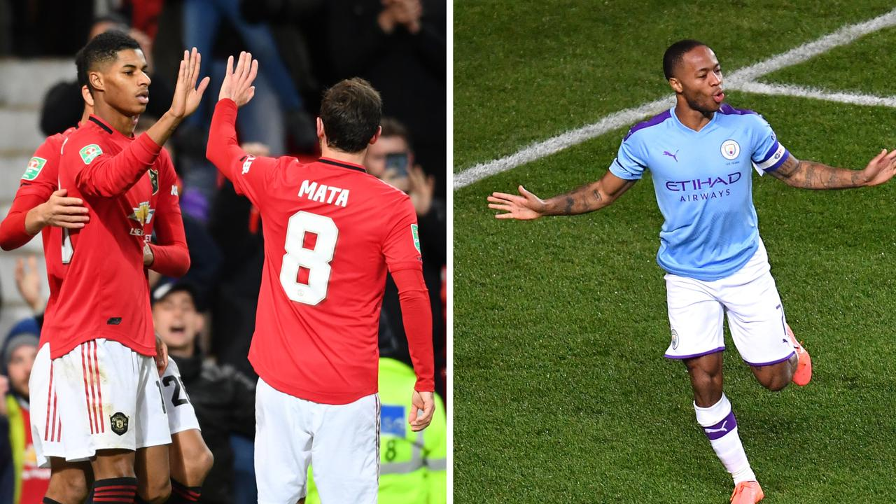 Marcus Rashford had a hand in all three Man Utd goals, while Raheem Sterling banged in two of his own.