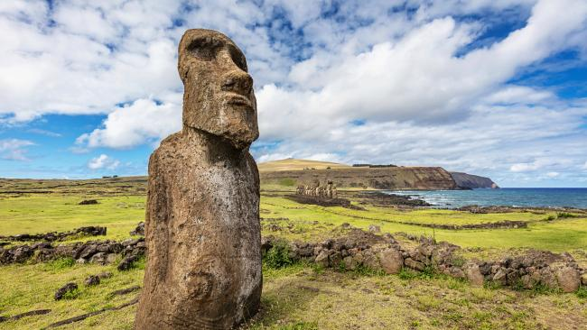 2/15 Rapa Nui (Easter Island), Chilean PolynesiaRapa Nui is more than 2000 kms away from the nearest inhabited island (and that 'inhabited' island only has around 50 people on it). Serviced by only one flight per day, is it worth the trip? Yes. Nowhere else will you see the giant faces (averaging 4m tall and 14 tonnes) of nearly 1000 moai statues jutting out from lush green grass surrounded by the bright blue ocean.