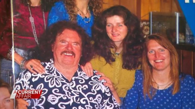 """Keira's mother, Michelle far right, with Laishkochav and his """"wives""""."""