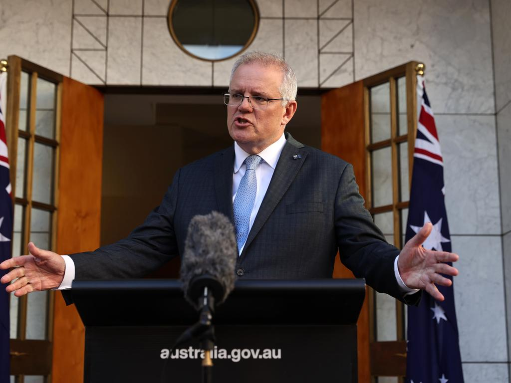 Prime Minister Scott Morrison in Canberra yesterday. Picture: Gary Ramage