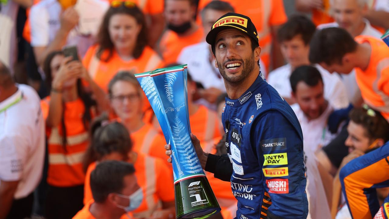 Daniel Ricciardo won the Italian Grand Prix last month. Photo by Lars Baron/Getty Images.