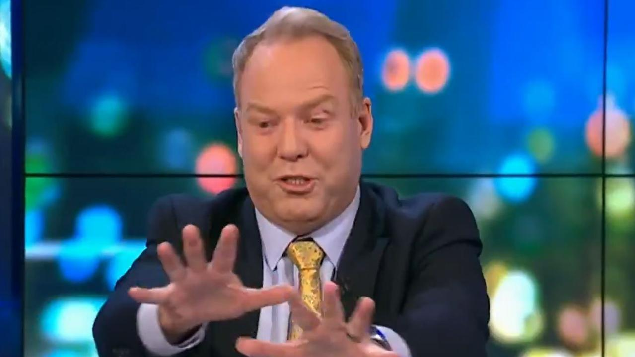 Pete Helliar joked that the sight was like 'a 70s porno'. Picture: Channel 10.
