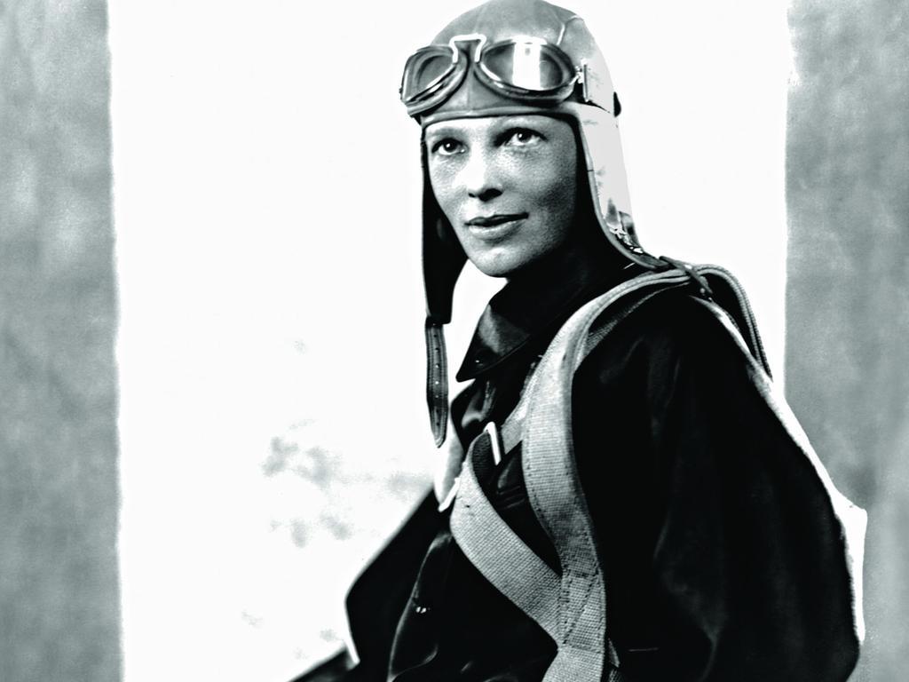 Aviator Amelia Earhart poses in her flight suit. Picture: Corbis via Getty Images