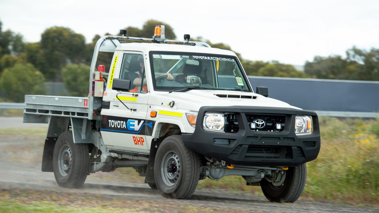 Toyota and BHP are trialling an electric LandCruiser ute.