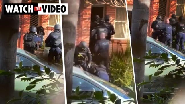 Man arrested after meat cleaver attack