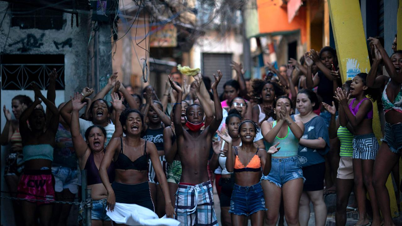 View of the scene where an alleged drug trafficker was reportedly killed by civil police in Jacarezinho favela, Rio de Janeiro, Brazil on May 6, 2021. Picture: Mauro Pimentel/AFP
